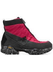 Premiata Zipped Ankle Boots Red