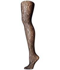 Calvin Klein Floral Net Tights Black Hose