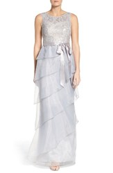 Adrianna Papell Women's Organza Ruffle Gown