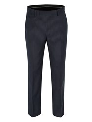 Pierre Cardin Stripe Formal Suit Trousers Blue
