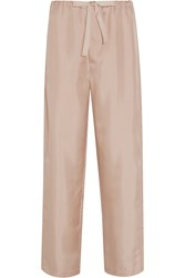 Araks Ally Polka Dot Silk Satin Pajama Pants Antique Rose