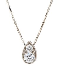 Memoire 18K Diamond Rain Teardrop Pendant Necklace