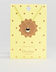 Orelia Sun Pendant Necklace In Gold