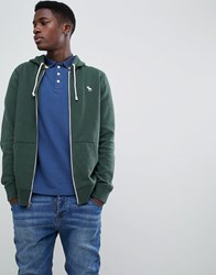 Abercrombie And Fitch Icon Logo Full Zip Hoodie In Green