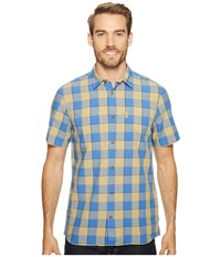 Fjall Raven High Coast Big Check Shirt Short Sleeve Uncle Blue Men's Short Sleeve Button Up Gray