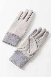 Urban Outfitters Bonded Trim Jersey Glove Dark Grey