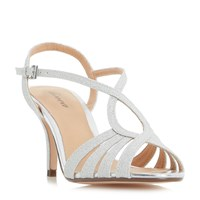 Linea Madisan Strappy Cross Over Sandals Silver