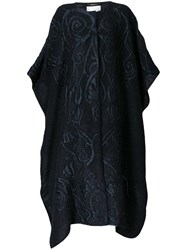 Alberta Ferretti Bat Wing Sleeve Coat Black