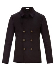 Tomas Maier Double Breasted Wool Blend Coat