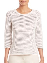 Akris Cashmere Cotton Sweater White