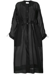 Christopher Esber Oversized Single Breasted Coat Black