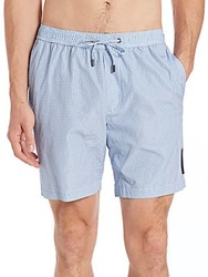 Michael Kors Dot Grid Swim Trunks Marine Blue