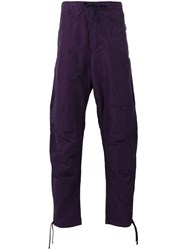 Stone Island Shadow Project Loose Fit Drawstring Trousers Men Cotton Polyester 50 Pink Purple