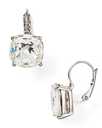 Kate Spade New York Square Leverback Earrings Clear Silver