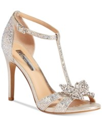 Inc International Concepts Rissaa Embellished Butterfly Detail Evening Sandals Only At Macy's Women's Shoes Champagne