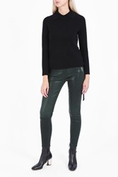 Frame Denim Spruce Skinny Leather Trousers Green