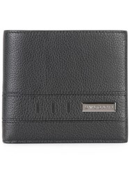 Bulgari Metallic Plaque Bi Fold Wallet Black