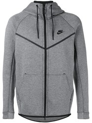 Nike Logo Hooded Cardigan Grey