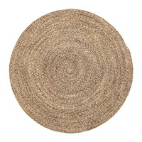 Bloomingville Woven Round Rug Natural