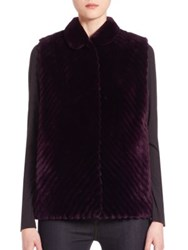 The Fur Salon Reversible Vest Violet
