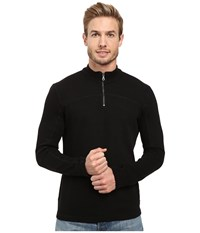 Agave Butte Long Sleeve Flatback Rib Black Men's Long Sleeve Pullover