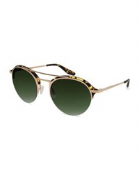 Barton Perreira Men's Beauregard Round Acetate And Titanium Sunglasses Heroine Chic Gold Julep
