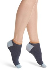 Richer Poorer Lop Top Low Cut Socks Navy Brown