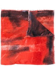 Avant Toi Dyed Effect Scarf Red
