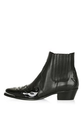 Topshop Arson Western Ankle Boots Black