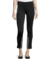 Marc Ny Performance Hi Tech Colorblock Zip Leggings Black