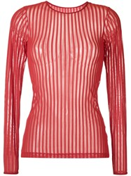 Giuliana Romanno Ribbed Top Red