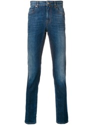 Z Zegna Faded Slim Fit Jeans Blue