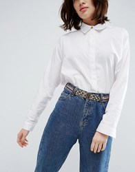 Asos Multi Colour Glitter Elastic Waist Belt Multi