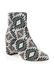 Schutz Luppe Round Toe Booties Black Multi
