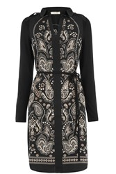 Oasis Ornate Paisley Dress Black