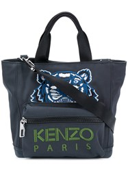 Kenzo Embroidered Tiger Tote Bag Nylon Polyester Green