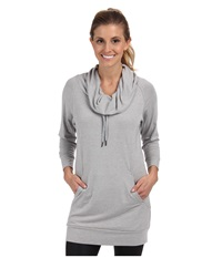 Zobha Helen Cowl Neck Tunic Heather Gray Women's Workout