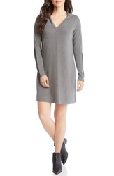 Karen Kane Hoodie Dress Dark Heather Grey