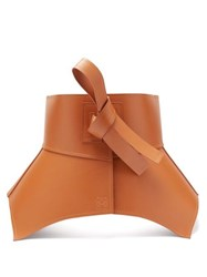 Loewe Obi Leather Belt Tan