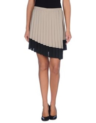 Space Style Concept Knee Length Skirts Grey