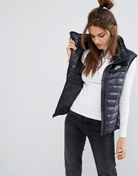 Nike Lightweight Padded Vest In Black Black Black White