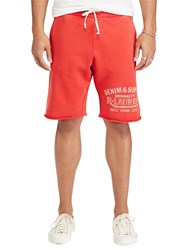 Ralph Lauren Denim And Supply Cotton French Terry Cutoff Sweat Shorts Ancient Red