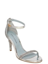 Chiara Ferragni 90Mm Glitter And Metallic Leather Sandals
