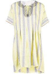 Lemlem Amira Smock Dress Yellow