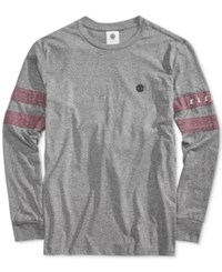 Element Men's Handles Pieced Stripe T Shirt Grey Heather