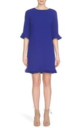 Women's Cece By Cynthia Steffe 'Kate' Ruffle Hem Shift Dress Sapphire