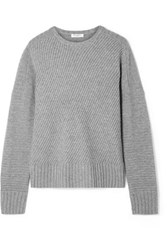 Equipment Abril Ribbed Wool And Cashmere Blend Sweater Gray