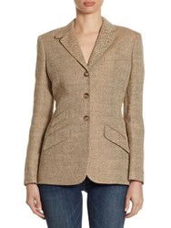 Polo Ralph Lauren Herringbone Textured Blazer Brown Herringbone