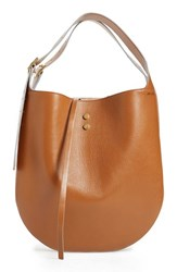 Jimmy Choo 'Mardy' Leather And Genuine Snakeskin Shopper Brown Canyon