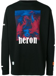 Heron Preston Print Sweatshirt Black